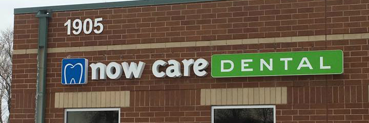 Now Care Dental Building Sign
